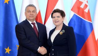 Premier Beata Szydło i premier Węgier Viktor Orban