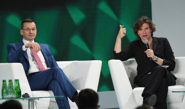 Wicepremier Mateusz Morawiecki i Profesor Ekonomii Innowacji i Wartości Publicznych londyńskiego University College Mariana Mazzucato