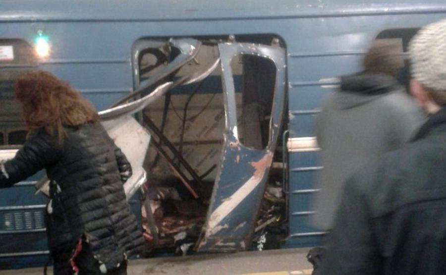 Zamach w petersburskim metrze