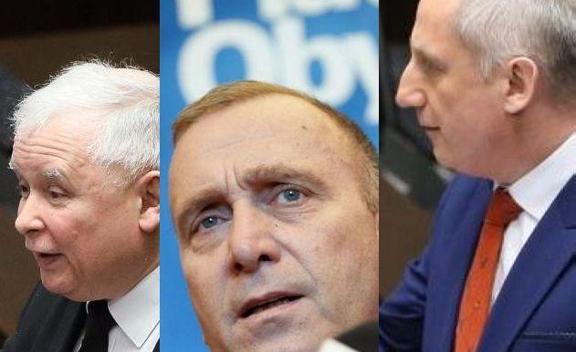 Jarosław Kaczyński, Grzegorze Schetyna, Sławomir Neumann