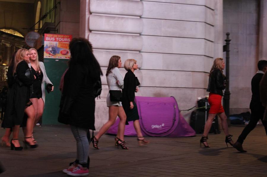 bezdomność na ulicach Londynu / fot. Michał Łebski