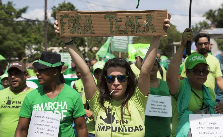 Protesty przeciw prezydentowi Brazylii