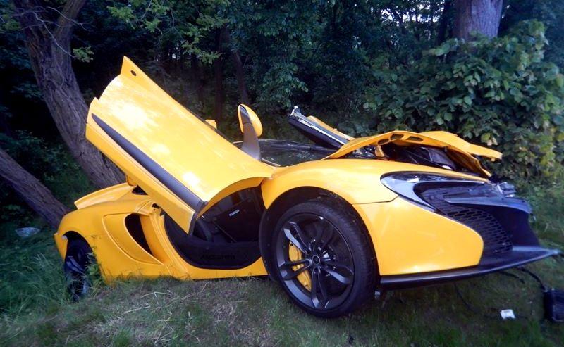 McLaren 650S rozbity w Krapkowicach
