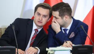 Sebastian Kaleta, były rzecznik Zbigniewa Ziobry i Patryk Jaki