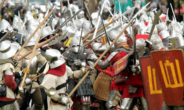 Pod Grunwaldem wojska polsko-litewskie kolejny raz pokonały Krzyżaków. ZOBACZ ZDJĘCIA