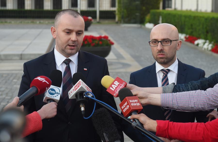 Paweł Mucha i Krzysztof Łapiński