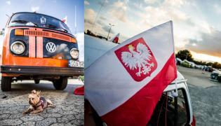VW T2 doka, którego właścicielowi towarzyszy wierny piesek Tofik