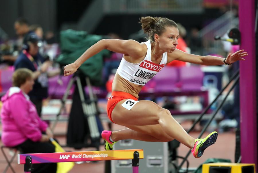 Joanna Linkiewicz w biegu eliminacyjnym na 400 m