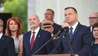 Andrzej Duda przemawia w czasie obchodów święta Wojska Polskiego