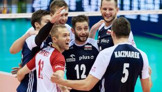 Polacy cieszą się z wygranego 3:0 meczu grupy A mistrzostw Europy siatkarzy