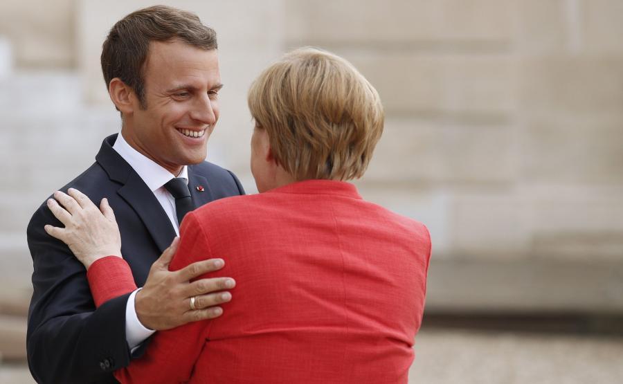 Angela Merkel i Emmanuel Macron