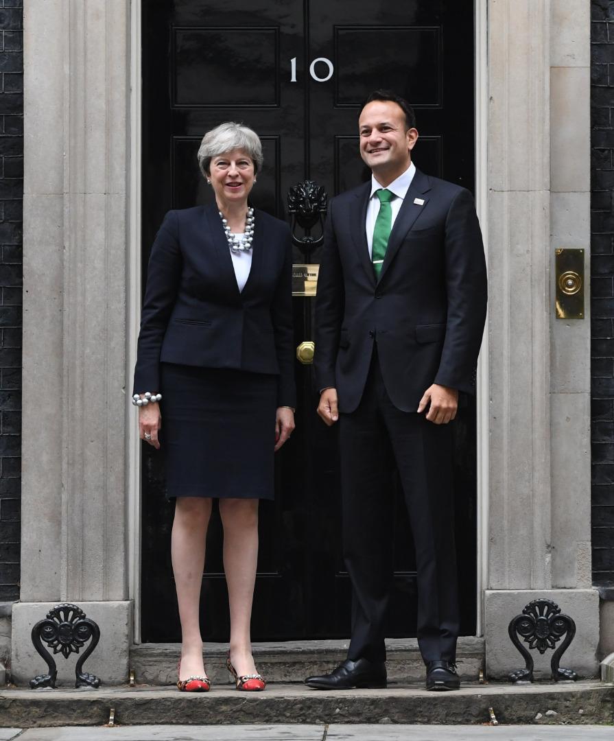 Theresa May i Leo Varadkar