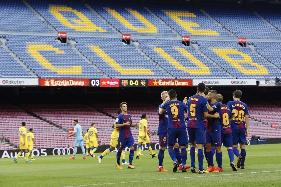 Barcelona wygrała przy pustych trybunach
