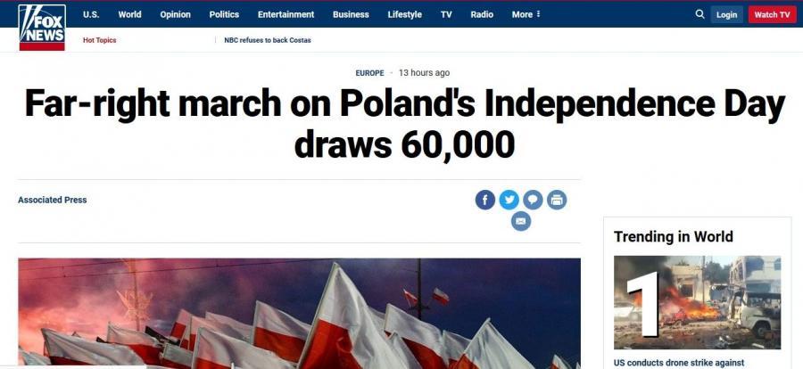 Fox News o Marszu Niepodległości