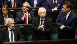 Jarosław Kaczyński podczas expose