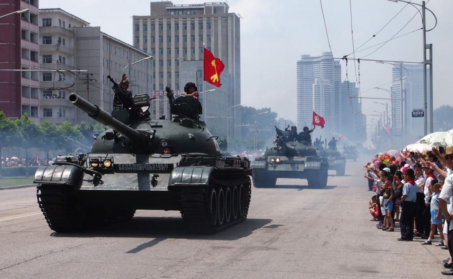 Korea Północna, wojskowa parada