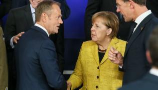 Donald Tusk i Angela Merkel w Brukseli