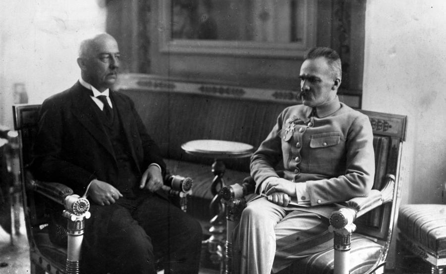 Gabriel Narutowicz i Józef Piłsudski