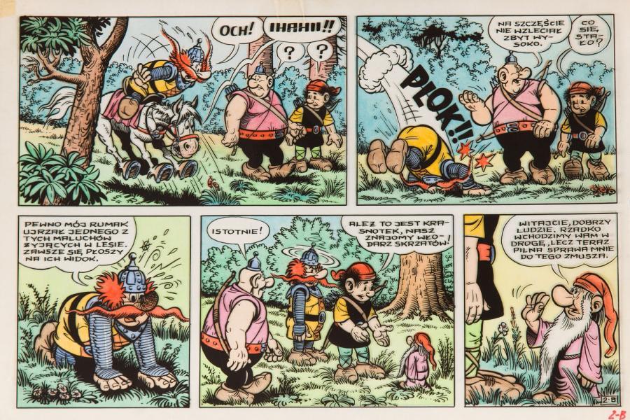 Kajko i Kokosz - Festiwal czarownic, plansza komiksowa nr 2 B, 1981 r.
