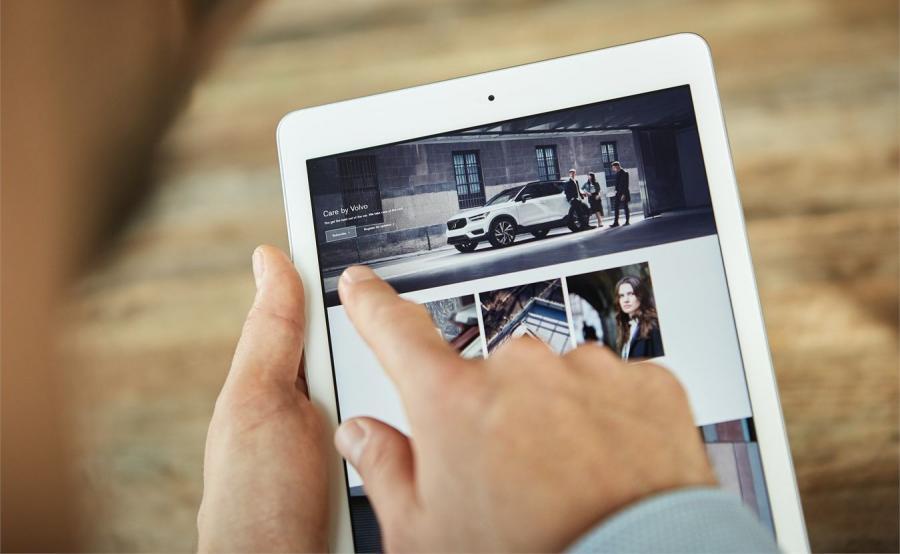 Funkcja Care by Volvo umożliwia dzielenie się autem z innymi. Do tego by je otworzyć i uruchomić wystarczy specjalna aplikacja