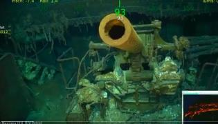 Wideo przedstawiające wrak USS Lexington