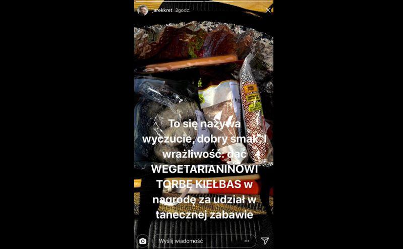 """kiełbasy - nagroda pocieszenia dla Jarosława Kreta za udział w """"Tańcu z gwiazdami"""""""