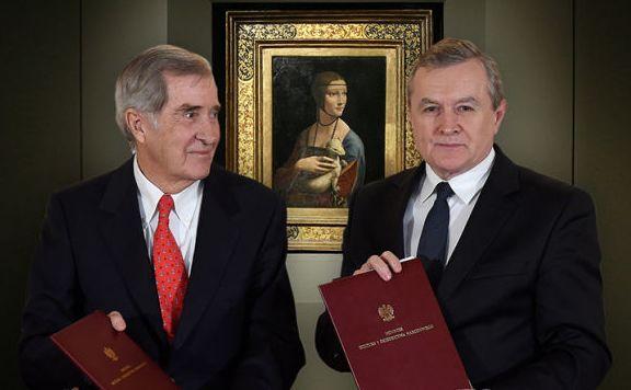 Książę Adam Karol Czartoryski i minister kultury Piotr Gliński