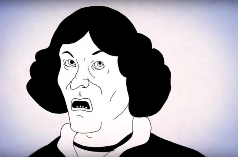 Mikołaj Kopernik w teledysku zespołu Coma