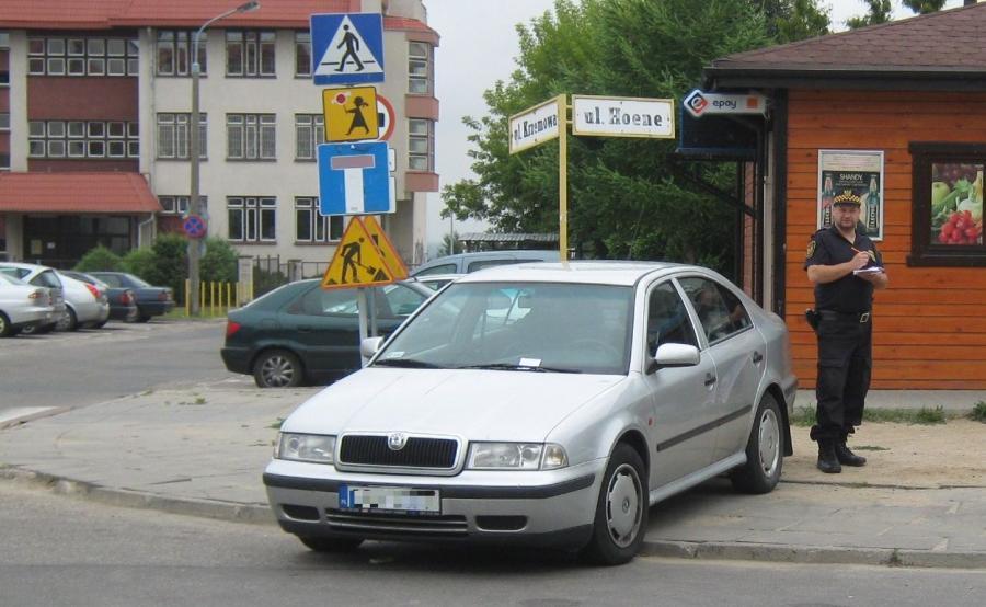 Zdjęcie parkowania przesłała nam Straż Miejska w Gdańsku