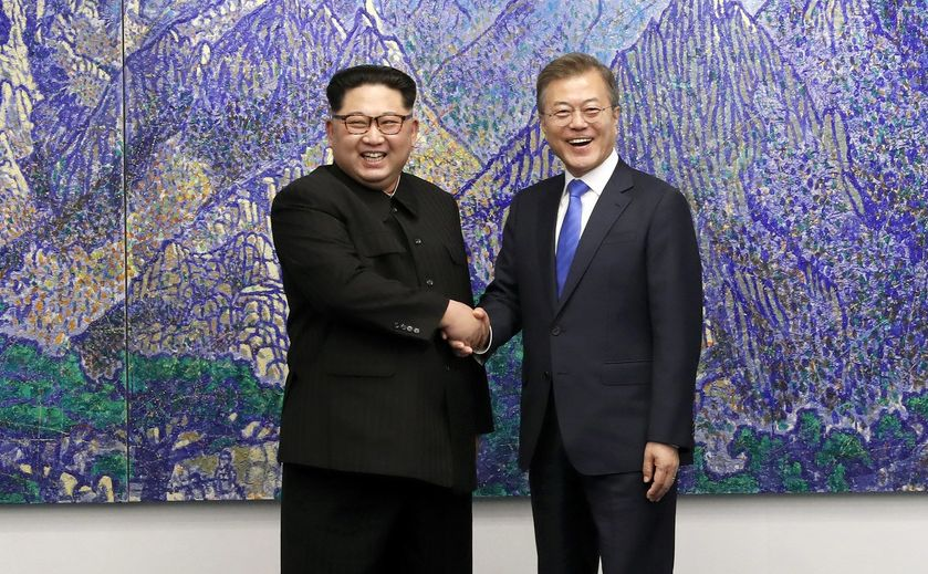 Kim Dzong Un i Mun Dze In