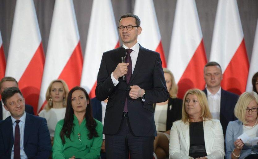 Premier Mateusz Morawiecki na spotkaniu w Garwolinie