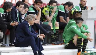 Trener Jorge Jesus i piłkarze Sportingu Lizbona