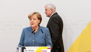 Horst Lorenz Seehofer i Angela Merkel