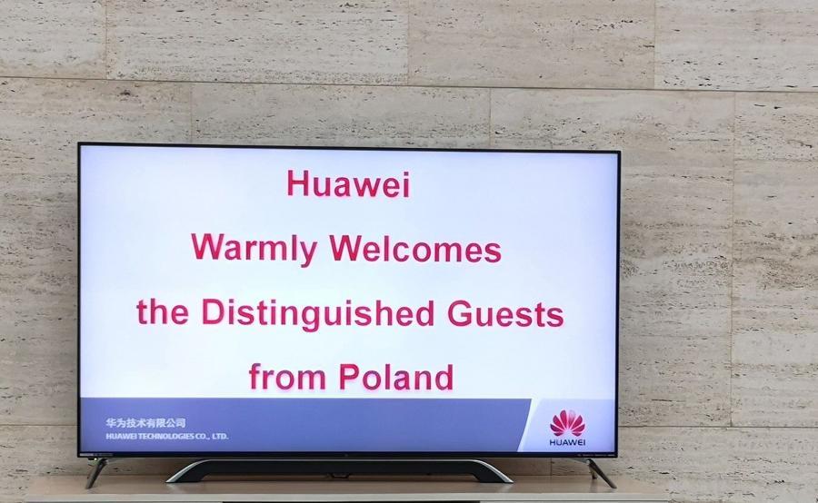 Taki napis przywitał nas w kwaterze głównej Huweia w Shenzen