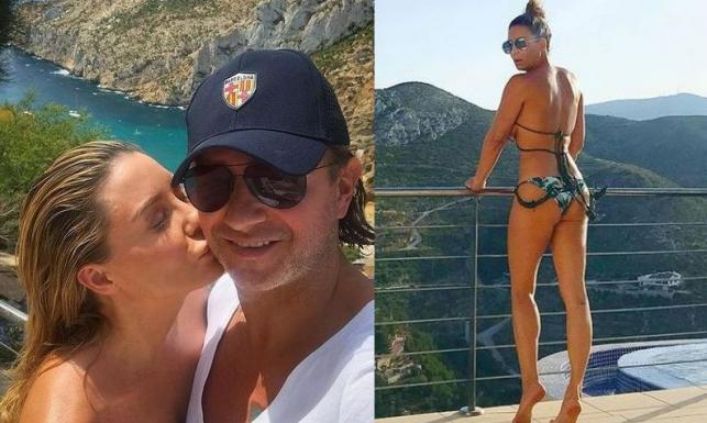 Małgorzata Rozenek na wakacjach całuje męża i pręży ciało w skąpym bikini