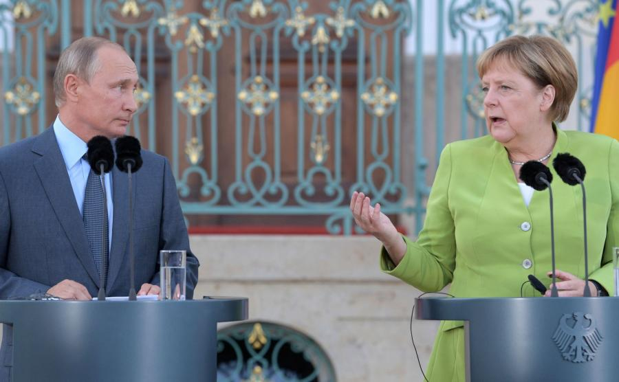Spotkanie Putin Merkel