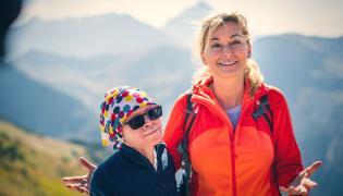 Martyna Wojciechowska i Kabula na Kasprowym Wierchu