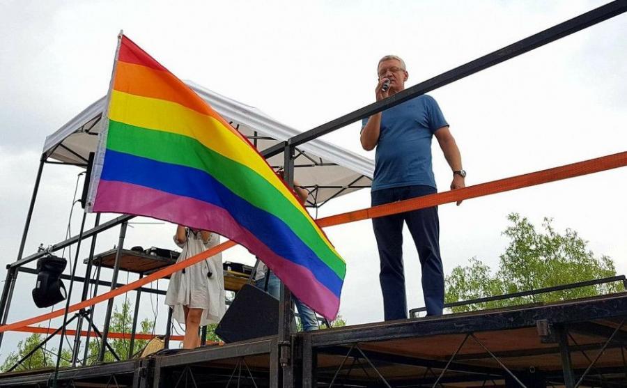 Jacek Jaśkowiak na poznańskim Marszu Równości