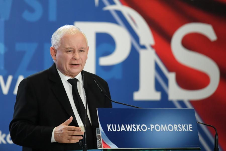 Prezes PiS Jarosław Kaczyński podczas konwencji wyborczej Prawa i Sprawiedliwości w Bydgoszczy.