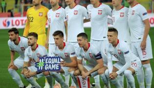 Zawodnicy piłkarskiej reprezentacji Polski przed meczem z Portugalią w piłkarskiej Lidze Narodów w Chorzowie