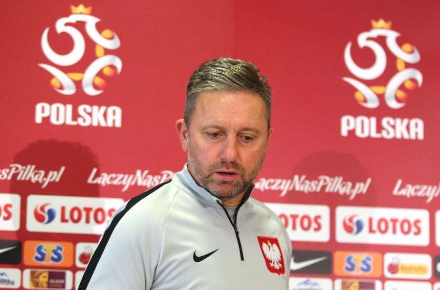 Trener piłkarskiej reprezentacji Polski Jerzy Brzęczek