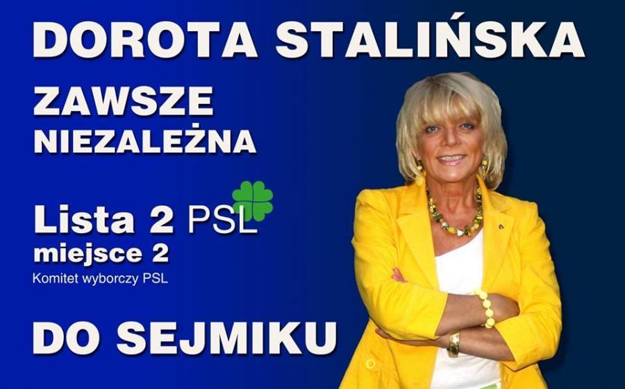 plakat wyborczy Doroty Stalińskiej