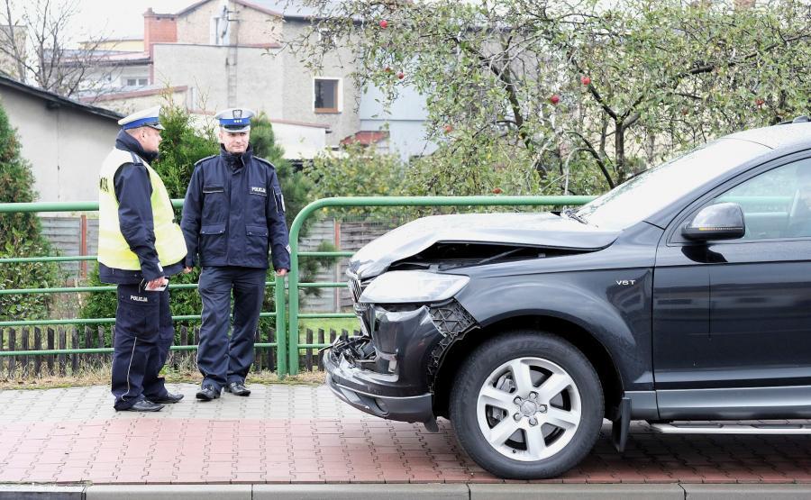 Rozbite rządowe Audi Q7