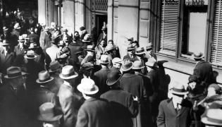 Wielki Kryzys - ludzie przed bankiem