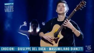 "Marcin Patrzałek w show ""Tu si que vales"""