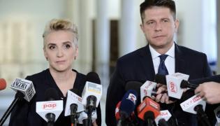 Liderzy ugrupowania Teraz! Joanna Scheuring-Wielgus (L) i Ryszard Petru (P)