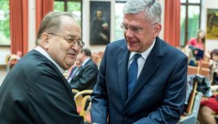 o. Tadeusz Rydzyk i Stanisław Karczewski