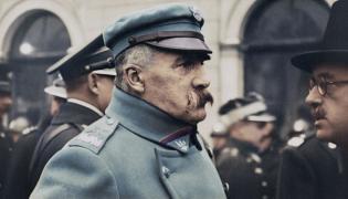 """Józef Piłsudski w kolorze - kadr z filmu """"Niepodległość"""""""