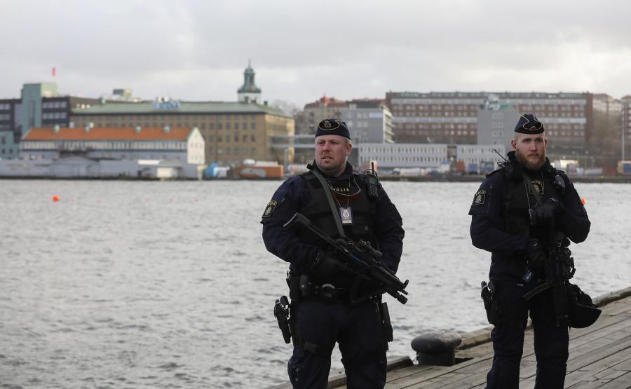 Szwedzka policja w Goeteborgu
