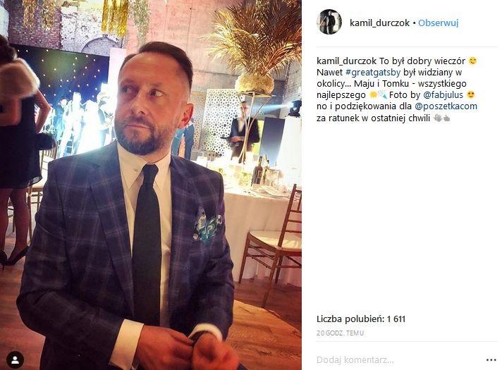 Kamil Durczok na ślubie Mai Bohosiewicz